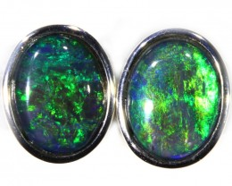 4.00 CTS GEM TRIPLET OPAL EARRINGS [SOJ6139]SH