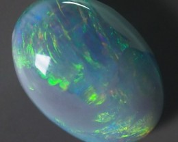 2.90CT SOLID SEMI BLACK LIGHTING RIDGE OPAL GM349