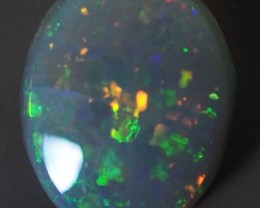 0.95CT SOLID SEMI BLACK LIGHTING RIDGE OPAL GM355