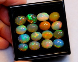 NR Auction ~  28.11ct Oval 10x8mm Welo Opal Parcel Lot