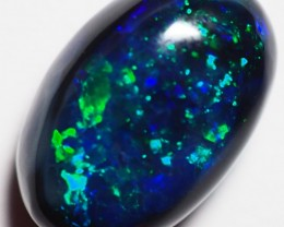 2.85CT SOLID LIGHTNING RIDGE BLACK OPAL GM362