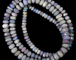 80.05 CTS FACETED OPAL BEAD STRAND -LIGHTNING RIDGE  N5-N6 [SO9849] SAFE SH