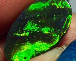 3.65CT SOLID LIGHTNING RIDGE BLACK OPAL GM363