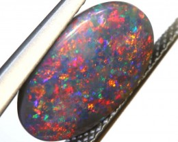N3  2.55 CTS QUALITY BLACK SOLID OPAL LIGHTNINGRIDGE INV-862 GC