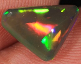 1.82CT~VERY BRILLIANT 5/5 BLACK WELO OPAL CAB~PATCHWORK PATTERN