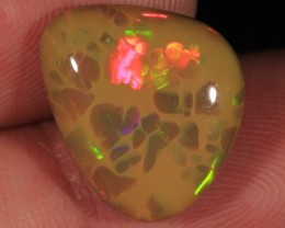 7.97CT~BRILLIANT 5/5 WELO OPAL CAB~DARK BASE HONEYCOMB