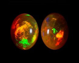 8X6MM EXQUISITE QUALITY ETHIOPIAN CRYSTAL OPAL PAIR -AB218