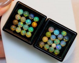 NR Auction ~ 10.47ct Round 5mm Welo Opal Parcel Lot