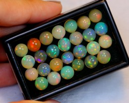 No Reserve~ 23.43ct Round 7mm Welo Opal Parcel Lot