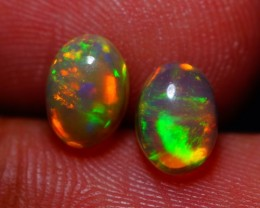 7x5MM AAA QUALITY ETHIOPIAN CRYSTAL OPAL PAIR -AB221