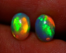 7x5MM TOP QUALITY ETHIOPIAN CRYSTAL OPAL PAIR -AB222