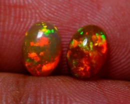 7X5MM EXQUISITE QUALITY ETHIOPIAN CRYSTAL OPAL PAIR -AB223