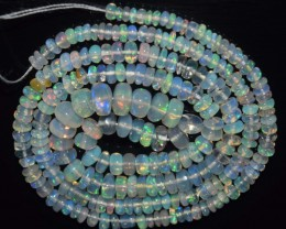 32.95 Ct Natural Ethiopian Welo Opal Beads Play Of Color