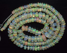 55.35 Ct Natural Ethiopian Welo Opal Beads Play Of Color