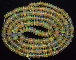 29.25 Ct Natural Ethiopian Welo Opal Beads Play Of Color