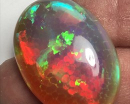 76.4ct Brilliant 5/5 Mix Patterns Welo Ethiopia Opal Cab.