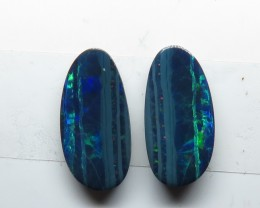 2 x Pairs Australian Doublet Opal identical Pairs