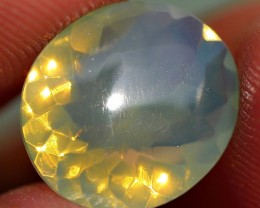 1.70 CRT FIRE OPAL FACETED GREENISH COLOR INDONESIAN OPAL