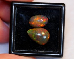 NR#  3.98ct 11x7mm , 13x9mm Welo Smoked Opal Parcel Lot