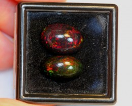 NR#  6.13ct Oval 12x8mm , 13x9mm Welo Smoked Opal Parcel Lot