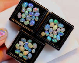 NR# 12.66ct Oval Mix Size Welo Opal Parcel Lot