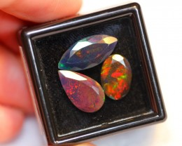 NR#  5.42ct Mix Faceted Welo Smoked Opal Parcel Lot