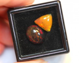 NR#  4.68ct 10x10mm, 12x10mm Welo Smoked Opal Parcel Lot