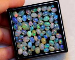 NR# 20.26ct Oval Mix Size Welo Opal Parcel Lot