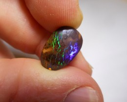 7ct Electric Flash Multicolour Boulder Matrix Opal Polished Stone