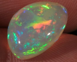 4.49CT~BRILLIANT 5/5 ETHIOPIAN WELO OPAL CAB~RIBBON/FLAME