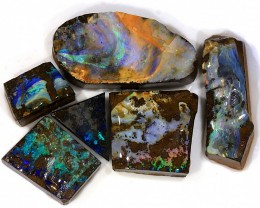 6 Pcs 310ct Natural Boulder Opal Rough Parcel [PBR-012]