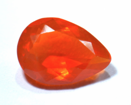 1.34ct No reserve Jelly Mexican Fire Opal Faceted