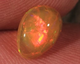 1.00CT~VERY BRIGHT ETHIOPIAN WELO OPAL CAB~ORANGE BASE