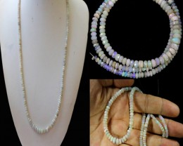 47.65 CTS FACETED  CRYSTAL OPAL BEAD STRAND -LIGHTNING RIDGE N6 [SO9921] SA