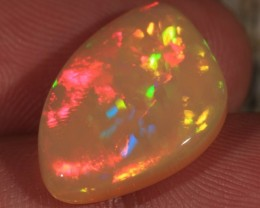 7.70CT EXTREMELY BRIGHT WELO OPAL WITH JIGSAW PUZZLE FIRE!