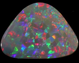 "5.65 CTS ""HARLEQUIN PATTERN""SEMI BLACK OPAL FROM  LIGHTNING RIDGE"