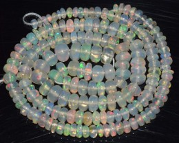 36.35 Ct Natural Ethiopian Welo Opal Beads Play Of Color