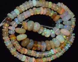 68.25 Ct Natural Ethiopian Welo Opal Beads Play Of Color