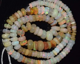 62.95 Ct Natural Ethiopian Welo Opal Beads Play Of Color