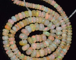 62.60 Ct Natural Ethiopian Welo Opal Beads Play Of Color