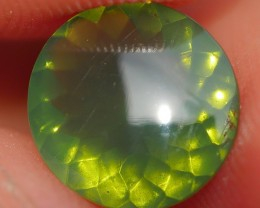 1.00 CRT FIRE OPAL FACETED BEAUTY GREEN COLOR INDONESIAN OPAL