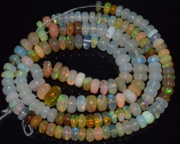137.15 Ct Natural Ethiopian Welo Opal Beads Play Of Color