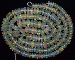 45.65 Ct Natural Ethiopian Welo Opal Beads Play Of Color
