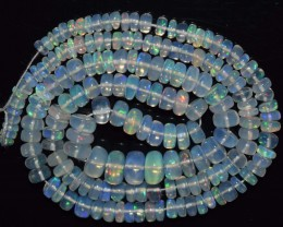 56.25 Ct Natural Ethiopian Welo Opal Beads Play Of Color