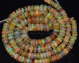 62.90 Ct Natural Ethiopian Welo Opal Beads Play Of Color