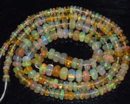 37.60 Ct Natural Ethiopian Welo Opal Beads Play Of Color