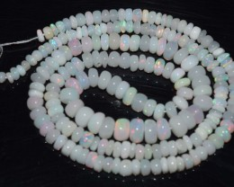 34.55 Ct Natural Ethiopian Welo Opal Beads Play Of Color