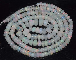 30.25 Ct Natural Ethiopian Welo Opal Beads Play Of Color