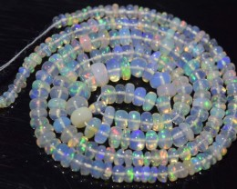 32.00 Ct Natural Ethiopian Welo Opal Beads Play Of Color