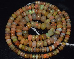 41.65 Ct Natural Ethiopian Welo Opal Beads Play Of Color